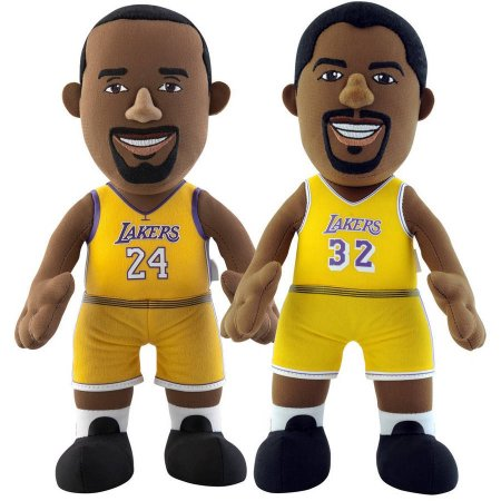 "NBA Dynamic Duo 10"" Plush Bundle Los Angeles Lakers, Johnson, Bryant"