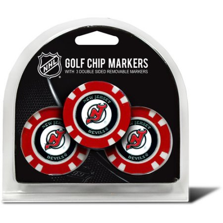 Team Golf NHL New Jersey Devils 3 Pack Golf Chip Ball Markers