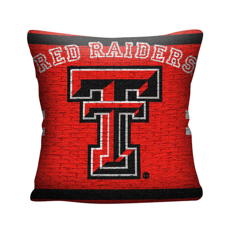 "NCAA Texas Tech Red Raiders 20"" Square Decorative Woven Pillow"
