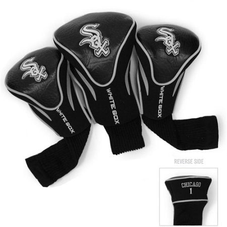 MLB Chicago White Sox 3 Pack Contour Head Covers