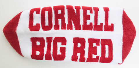 NCAA Cornell Big Red White Quarter Socks