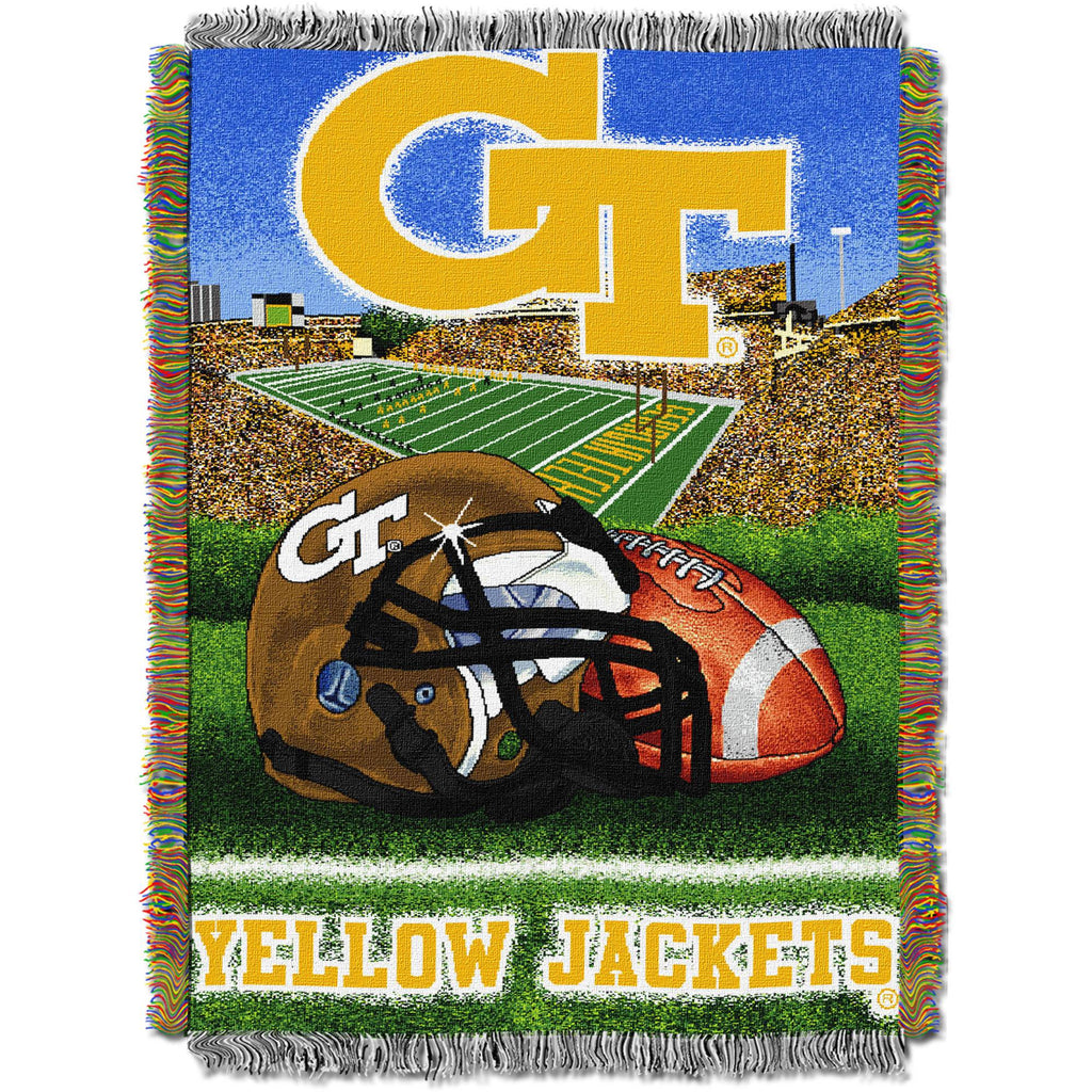 "NCAA 48"" x 60"" Tapestry Throw Home Field Advantage Series- Georgia Tech"