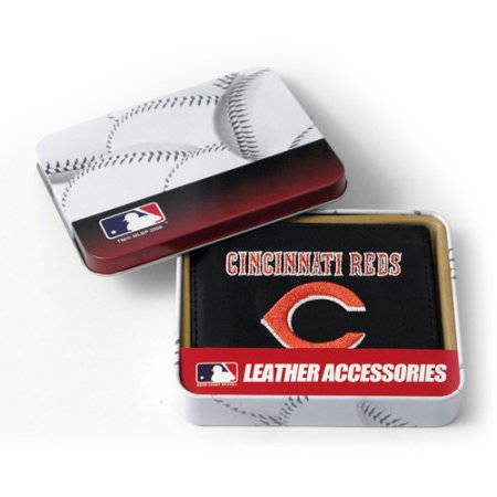 MLB Men's Cincinnati Reds Embroidered Trifold Wallet