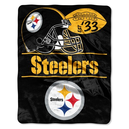 "NFL Pittsburgh Steelers ""Conference"" - Silk Touch Throw Blanket, 55"" x 70"""