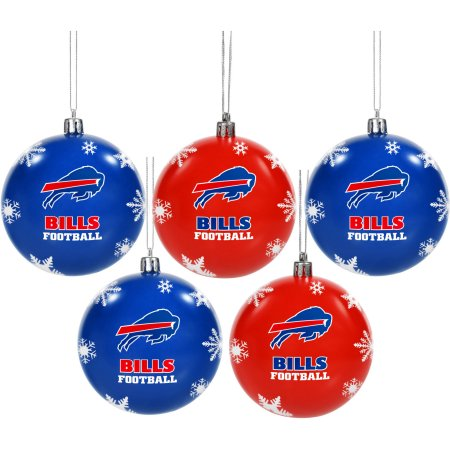 Forever Collectibles NFL 5-Pack Shatterproof Ball Ornaments - Buffalo Bills