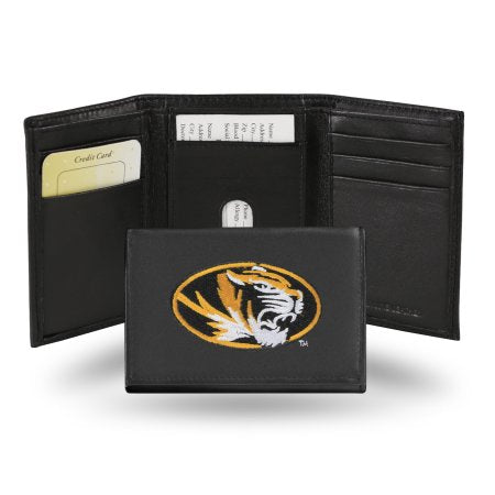 NCAA Men's Missouri Tigers Embroidered Trifold Wallet