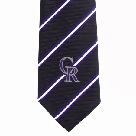 MLB Colorado Rockies Stripe One Necktie