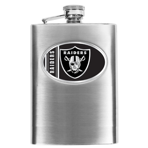 NFL Men's Oakland Raiders Hip Flask