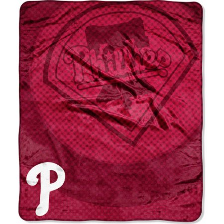 "MLB 50"" x 60"" Retro Royal Plush Raschel Throw, Phillies"