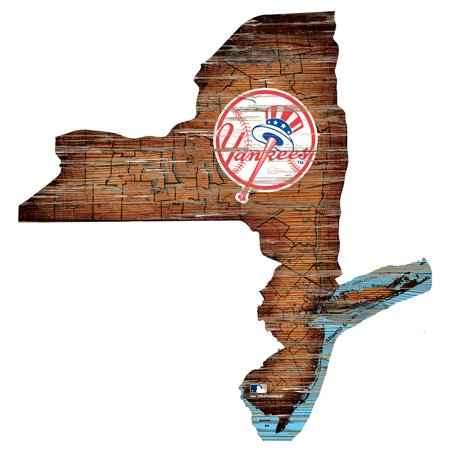 MLB New York Yankees 12'' Road Map State Cutout Sign