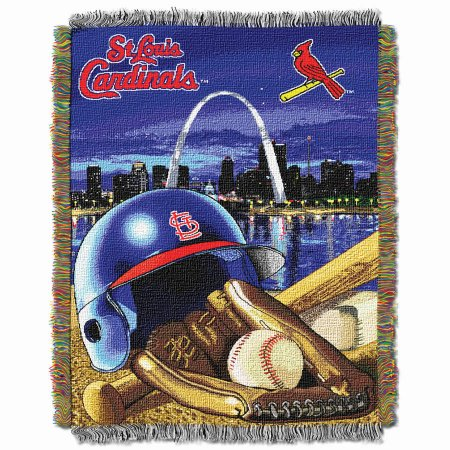 "MLB 48"" x 60"" Home Field Advantage Series Tapestry Throw, Cardinals"
