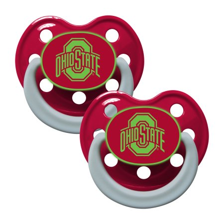 NCAA Ohio State Buckeyes Glow in the Dark Pacifier 2-Pack