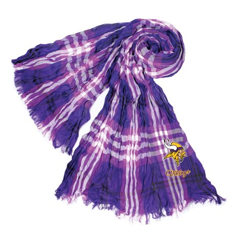 Little Earth - NFL Crinkle Plaid Scarf, Minnesota Vikings