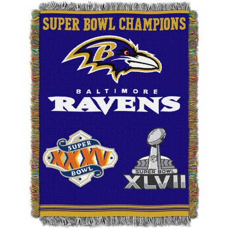 "NFL 48"" x 60"" Commemorative Series Tapestry Throw, Ravens"