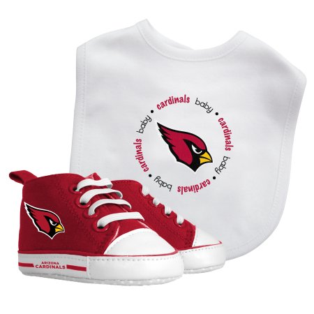 NFL Arizona Cardinals Bib & Prewalker Baby Gift Set