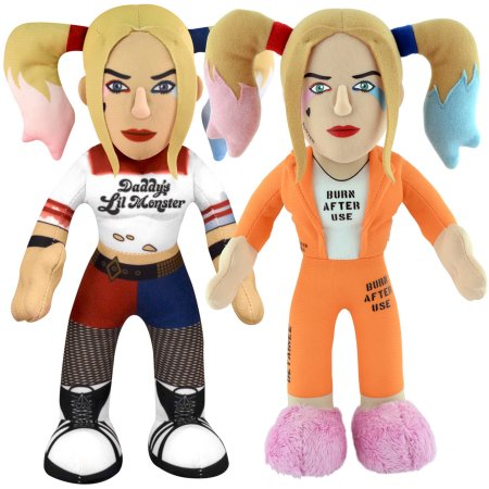 "Bleacher Creatures Dynamic Duo 10"" Plush Figures, Prison Harley Quinn and Harley Quinn"