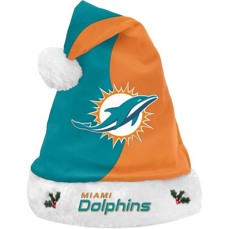 Forever Collectibles NFL Santa Hat, Miami Dolphins