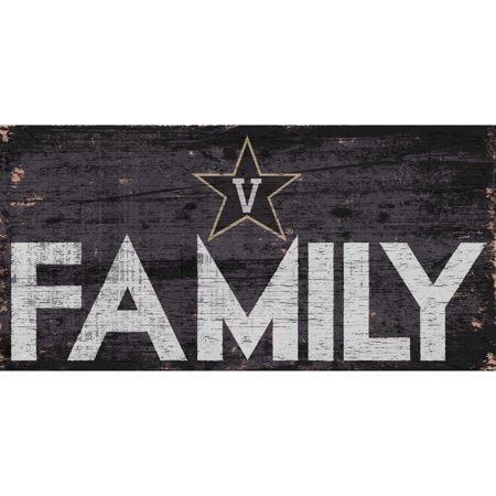 NCAA Vanderbilt Commodores 6'' x 12'' Distressed Wood Family Sign