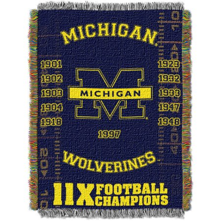 "NCAA 48"" x 60"" Commemorative Series Tapestry Throw, Michigan"