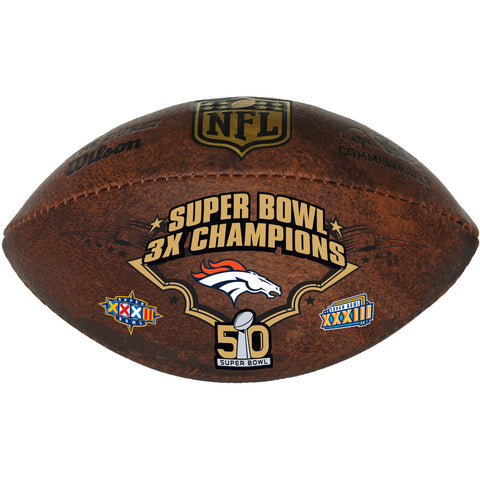 "Wilson NFL Denver Broncos Commemorative Championship 9"" Football"