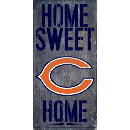 NFL Chicago Bears 6'' x 12'' Home Sweet Home Sign
