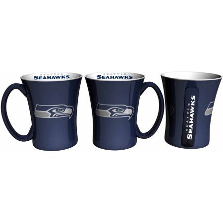 Boelter Brands NFL Set of Two 14 Ounce Victory Mugs, Seattle Seahawks