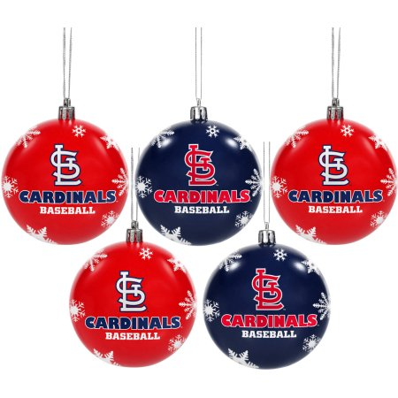 Forever Collectibles MLB 5-Pack Shatterproof Ball Ornaments - St. Louis Cardinals
