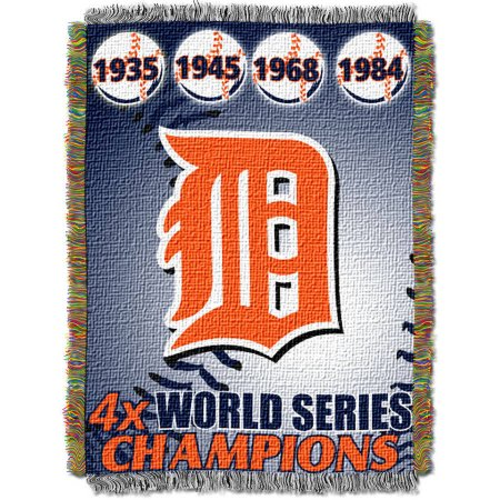 "MLB 48"" x 60"" Commemorative Series Tapestry Throw, Tigers"