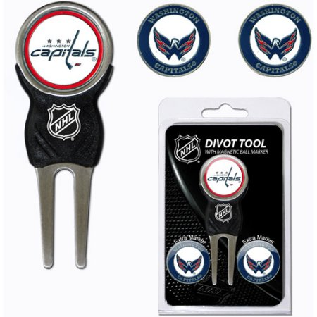 Team Golf NHL Washington Capitals Divot Tool Pack With 3 Golf Ball Markers