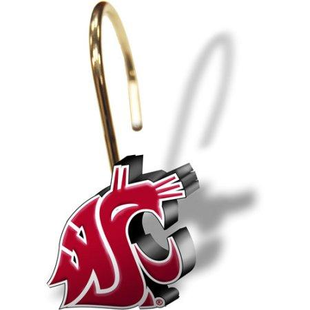 NCAA Washington State Cougars 12pc Shower Curtain Rings Set