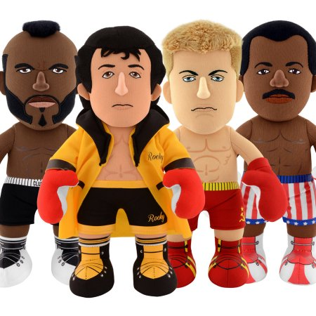 "Bleacher Creatures 10"" Plush Figures, Rocky 40th Anniversary, Pack of 4"