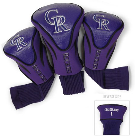 MLB Colorado Rockies 3 Pack Contour Head Covers