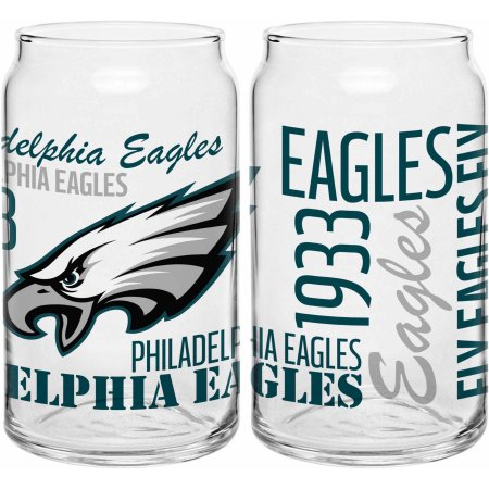 Boelter Brands NFL Philadelphia Eagles Set of Two 16 Oz Spirit Glasses