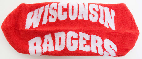 NCAA Wisconsin Badgers Red Quarter Socks