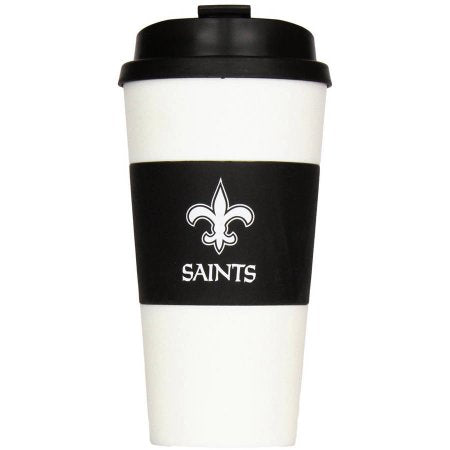 NFL New Orleans Saints 16-Ounce Sleeved Travel Tumbler