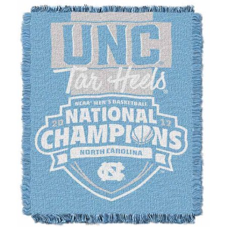 "Official Collegiate UNC Tar Heels 2017 NCAA Mens Basketball National Champions 46"" x 60"" Triple Woven Jacquard Throw"