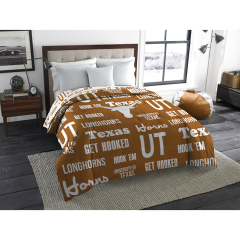 "NCAA Texas Longhorns ""Anthem"" Twin/Full Bedding Comforter"