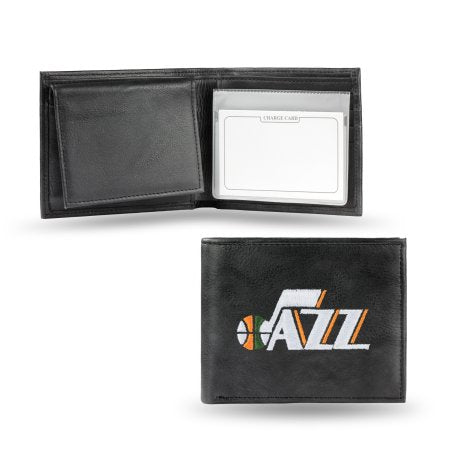 NBA Men's Utah Jazz Embroidered Billfold Wallet
