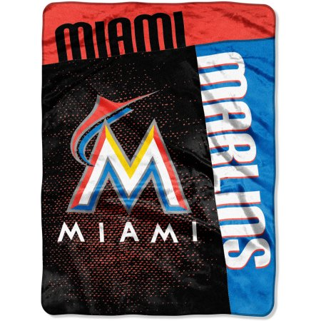 "MLB Miami Marlins ""Strike"" 60"" x 80"" Raschel Throw"