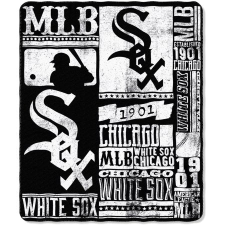 "MLB Chicago White Sox 50"" x 60"" Fleece Throw"