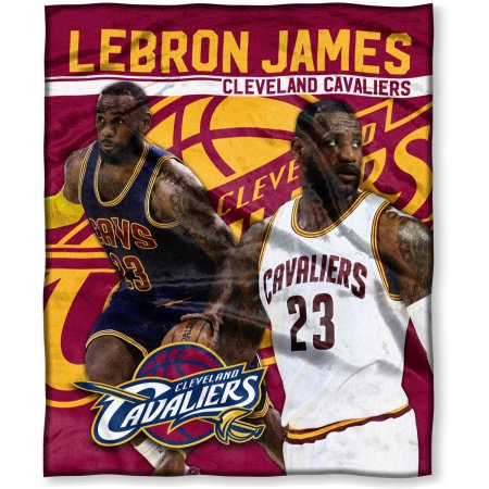 "NBA Lebron James 50"" x 60"" Cleveland Cavaliers Players High Definition Silk Touch Throw"