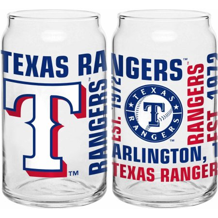 Boelter Brands MLB Texas Rangers Set of Two 16 Oz Spirit Glasses