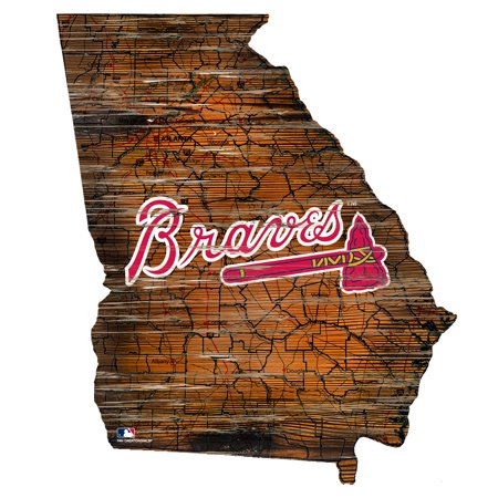 MLB Atlanta Braves 12'' Road Map State Cutout Sign