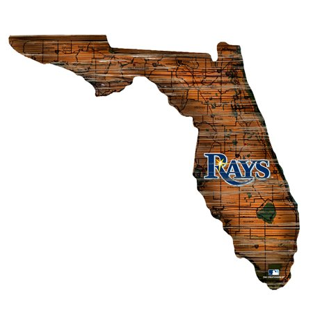MLB Tampa Bay Rays 12'' Road Map State Cutout Sign