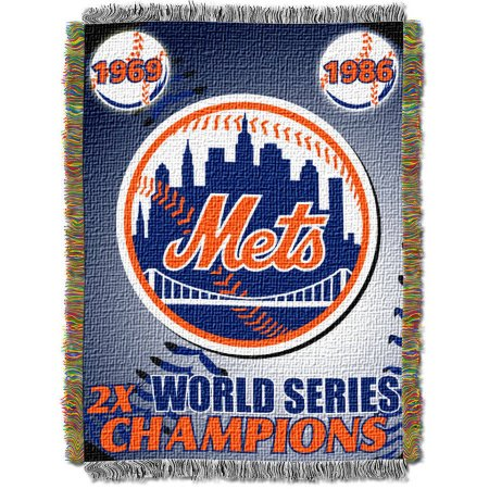 "MLB 48"" x 60"" Commemorative Series Tapestry Throw, Mets"