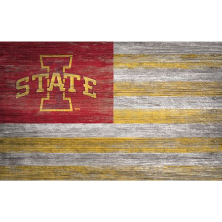 NCAA Iowa State Cyclones 11'' x 19'' Distressed Flag Sign