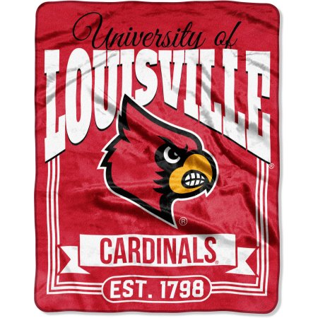 "NCAA Louisville Cardinals ""Traction"" 55"" x 70"" Silk Touch Throw"