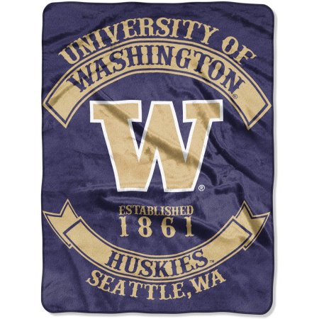 "NCAA Washington Huskies ""Rebel"" 60"" x 80"" Raschel Throw"