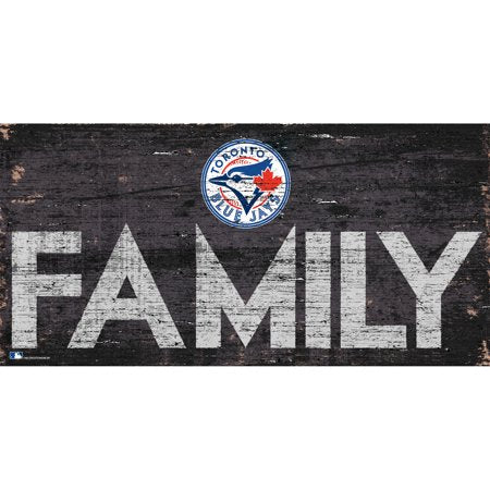 MLB Toronto Blue Jays 6'' x 12'' Distressed Wood Family Sign