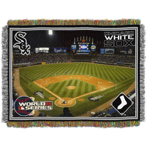 "MLB 48"" x 60"" Stadium Series Tapestry Throw, Chicago White Sox Cellular Field"